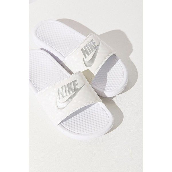 c08a0f4c469c Nike Benassi JDI Slide ( 25) ❤ liked on Polyvore featuring shoes ...