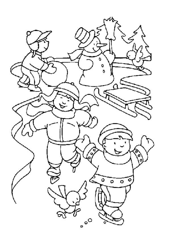 Schaatsen in de winter | Invierno | Pinterest | Pintar, Invierno y ...
