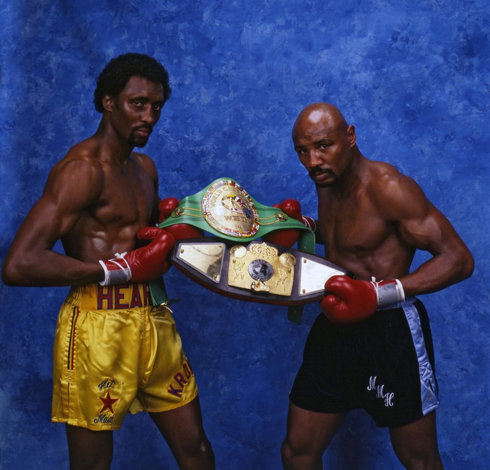 Thomas Hearns And Marvin Hagler Boxing History Marvelous Marvin Hagler Boxing Posters