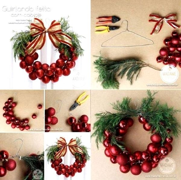 Diy christmas bauble wreath this project requires different sizes of diy christmas bauble wreath this project requires different sizes of christmas balls and of different texture solutioingenieria Images