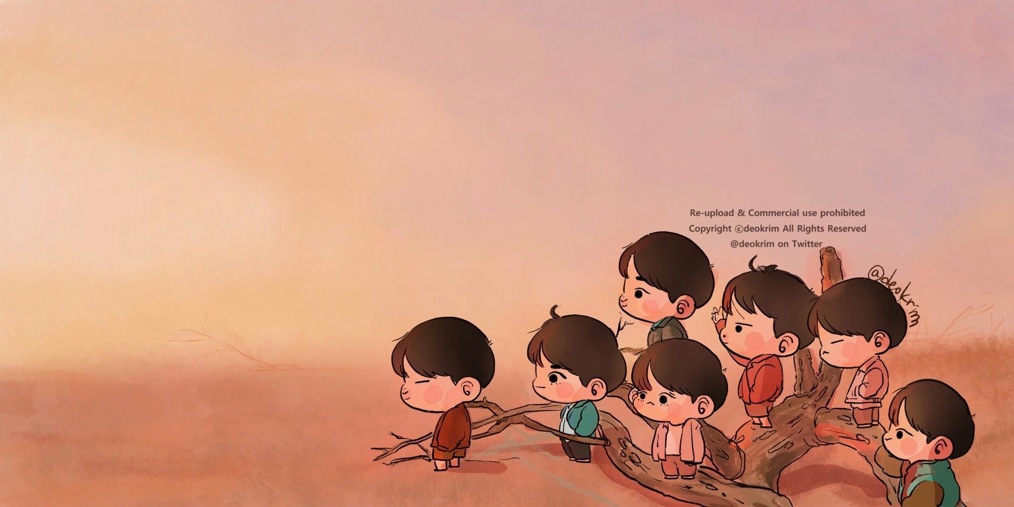 Love Yourself Tear Chibi Bts Kartun Wallpaper Lucu Latar Belakang