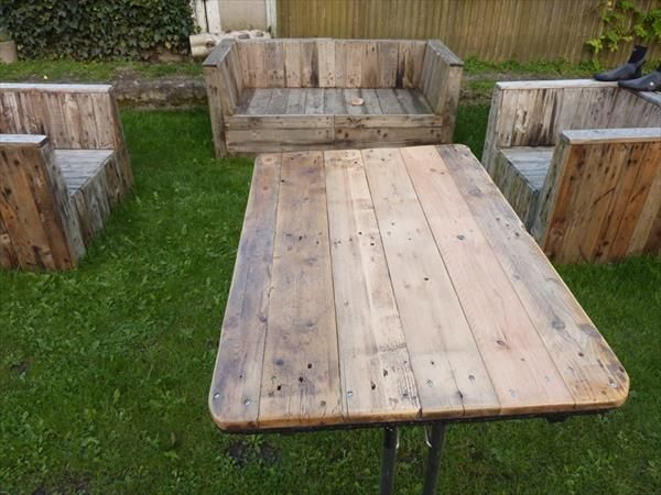 Industrial Pallet Table for Patio and Restaurant | Pallets ...