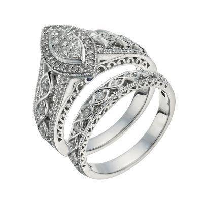 Perfect Fit 9ct White Gold 2 5 Carat Diamond Bridal Set H Samuel