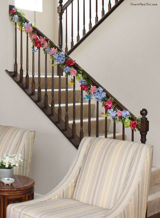 Spring Staircase Garland Spring Decor Pinterest Staircases - dollar general christmas decorations