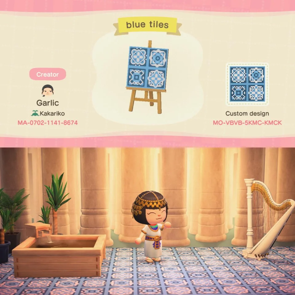 Middle Eastern Egypt Patterned Tiles Acqr In 2020 New Animal Crossing Animal Crossing Egypt Animals