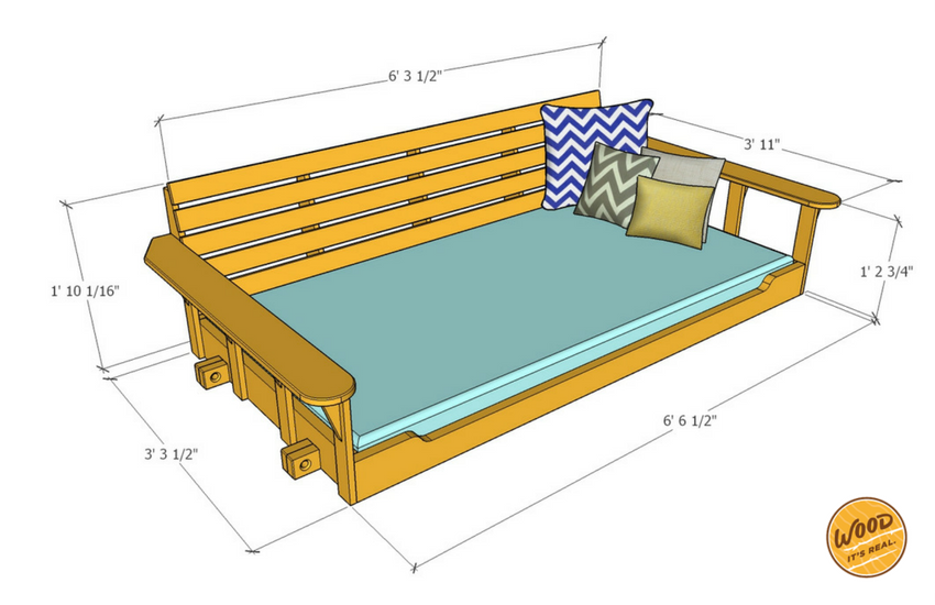 Build A Porch Bed Swing Plans And