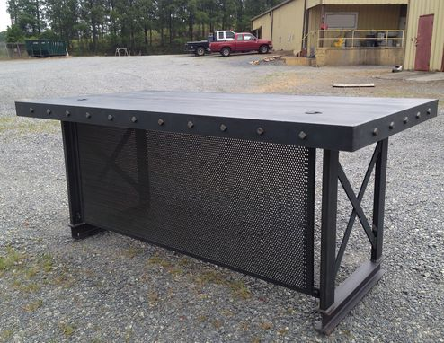 unique industrial furniture. custom made the unique industrial hybrid office desk furniture a