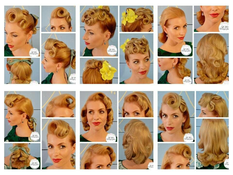 Retro pinup 40's hairstyles