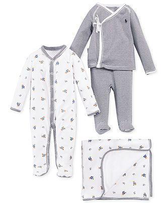 5887e8bd Ralph Lauren Baby Boys' Cute & Classic Gift Bundle - In Newborn size ...