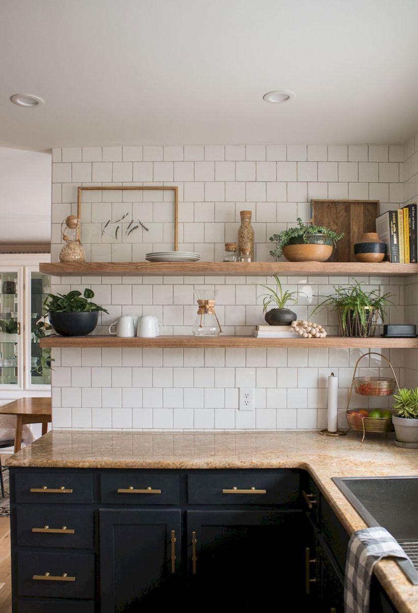 stylish rustic kitchen decor open shelves ideas kitchen design