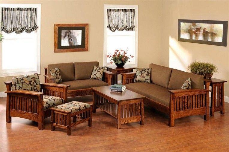 44 Beautiful Sofa Set Designs Ideas, Wooden Living Room Furniture Sets