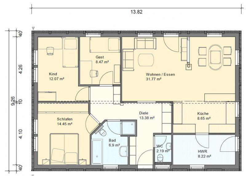Grundriss bungalow 5 zimmer  Die 25+ besten Grundriss bungalow Ideen auf Pinterest | Haus ...