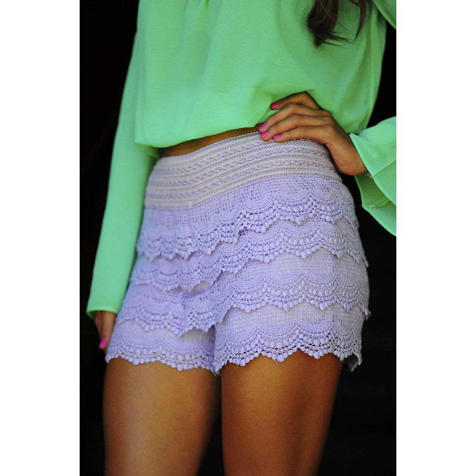 It's So Lacy Shorts: Lavender | Hope's ($31.99)
