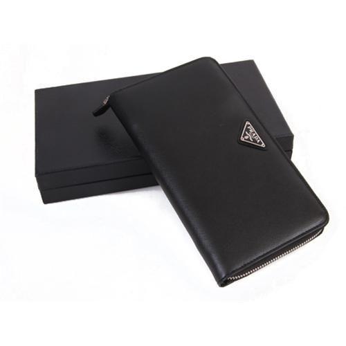 fcf51fbff696 ... cheap prada men black long wallets prada wallet purse d6639 6377d
