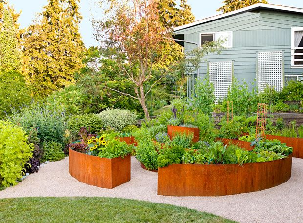 Pin on CorTen and Other Materials Raised Beds