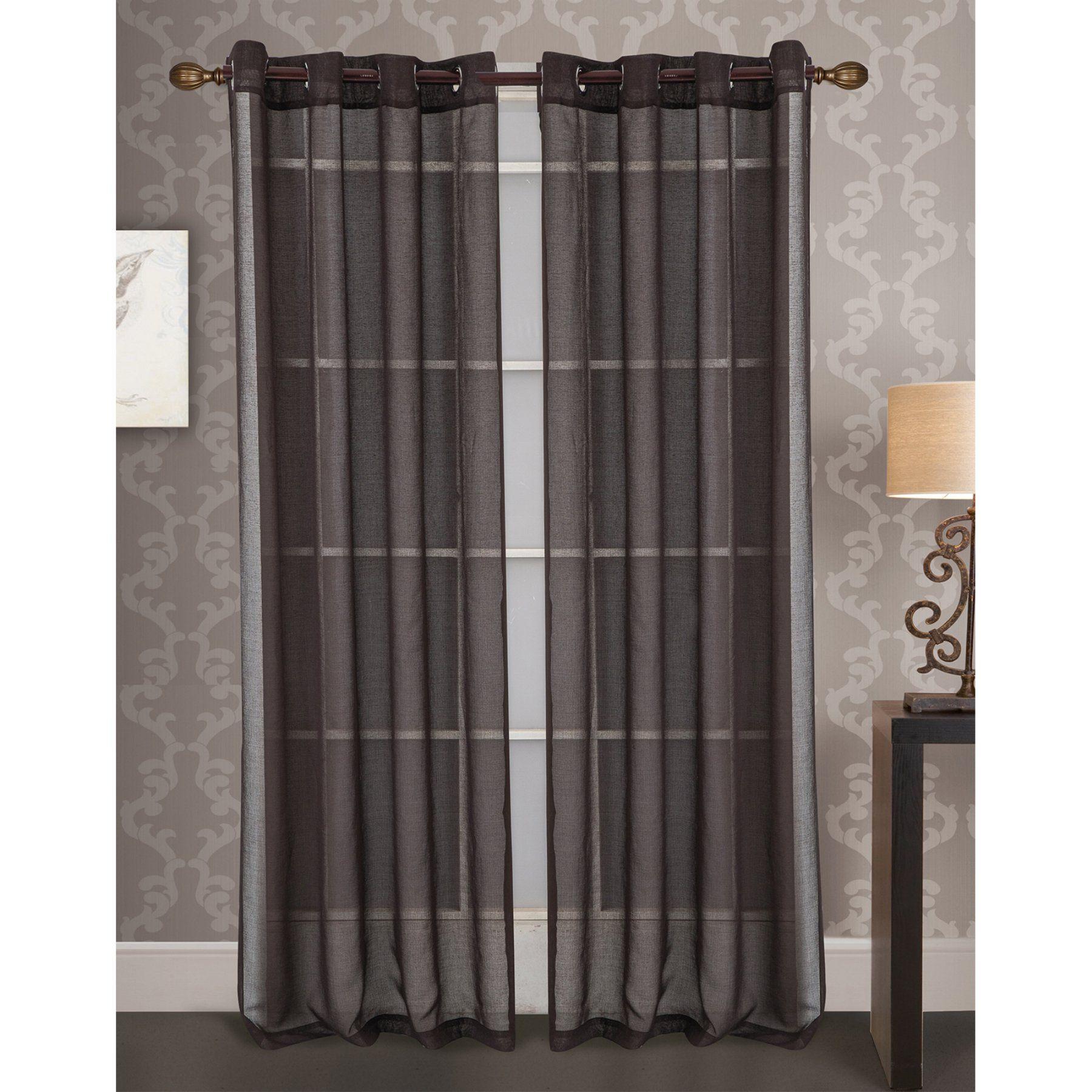 Rt Designers Collection Rainier Doily Grommet Curtain Panel