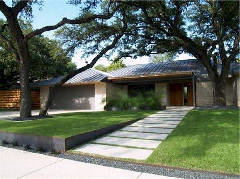 91 Beauty Low Maintenance Front Yard Landscaping Ideas Modern Landscaping Modern Front Yard Modern Landscape Design