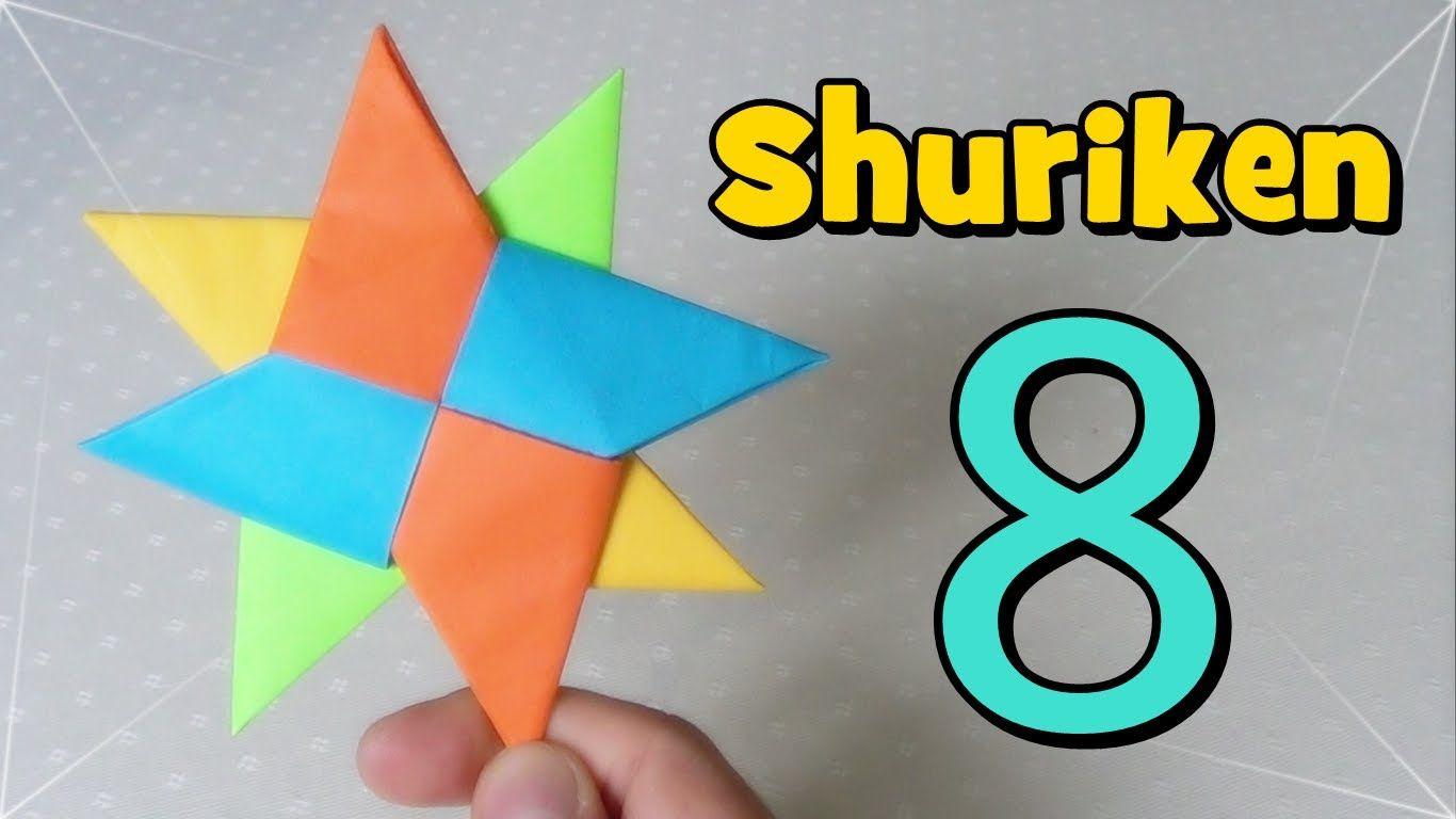 Shuriken Origami Estrella Ninja De Papel Origami Estrellas Ninja Shuriken
