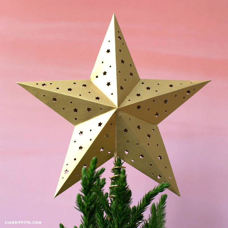 How To Fold An Origami Star Tree Topper Origami Star Christmas Ornaments Homemade Christmas Decorations Christmas Ornaments Homemade Christmas Ornaments