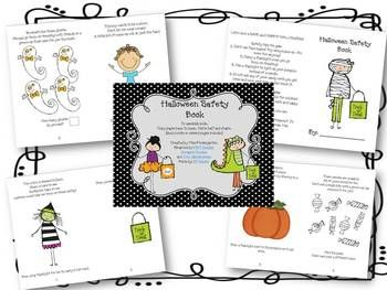 Have Your Students Practice Halloween Safety Using This Fun Mini Book It Includes Little Rhymes Coloring And Math Skillsfree Provided In Both C