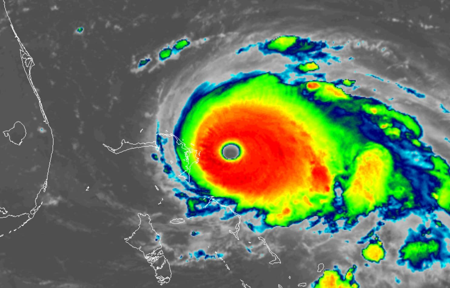 Historic Hurricane Dorian Unleashing Catastrophic Blow In Northern Bahamas Hurricane Warnings Posted For Florida S East Coast Hurricane Bahamas