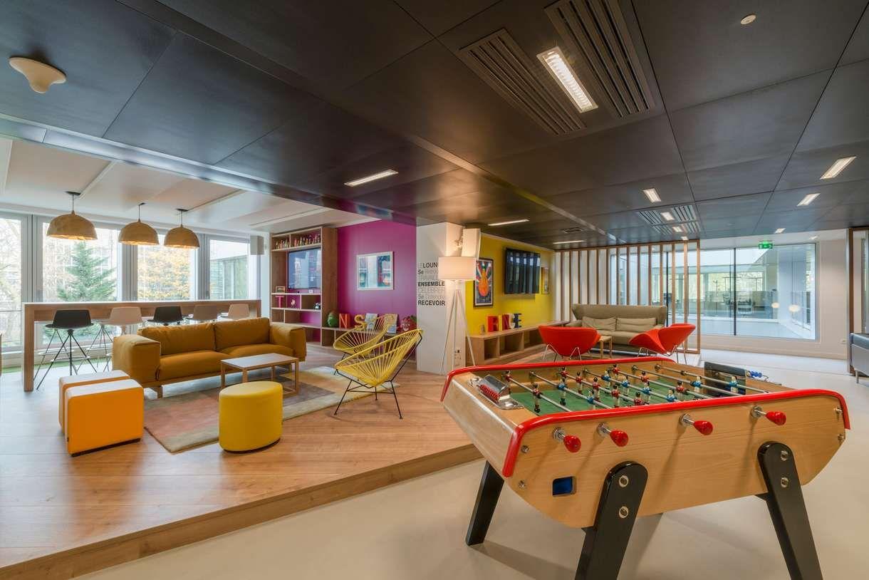 10 bureaux de r ve qui donnent envie d aller travailler bureau espace detente et espace. Black Bedroom Furniture Sets. Home Design Ideas