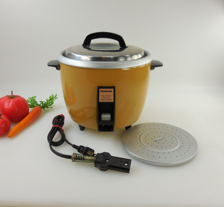 Japanese Kitchen Appliances Panasonic Rice O Mat Electric Rice Cooker Maker Mustard Yellow