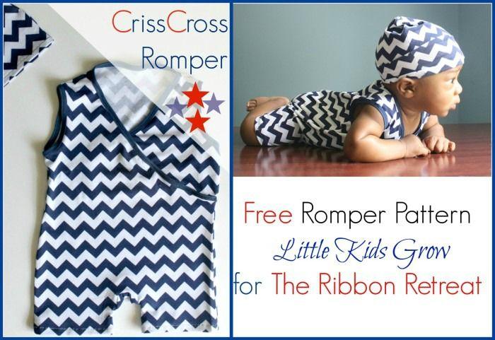 Free pattern: Criss Cross Romper for babies | Bébé | Pinterest ...