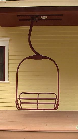 how to make a porch swing out of a ski lift chair - google search