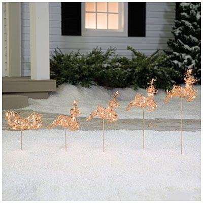 Lighted Grapevine Reindeer Christmas Decoration
