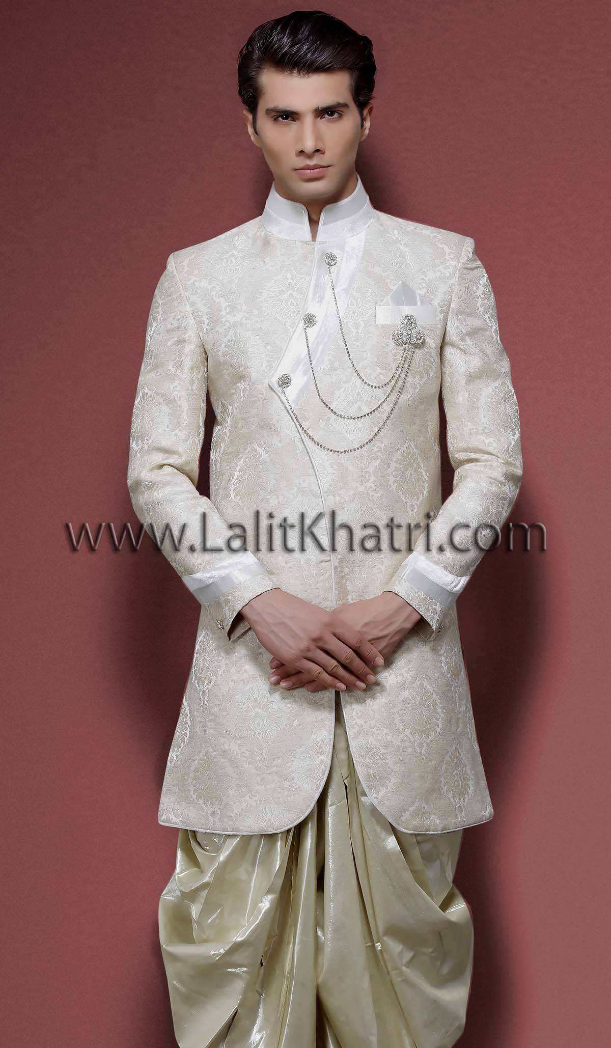 Off White Indo Western Sherwani: Off White Western Wedding Dresses At Websimilar.org