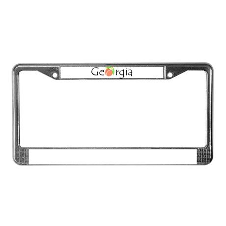 Georgia Peach License Plate Frame on CafePress.com