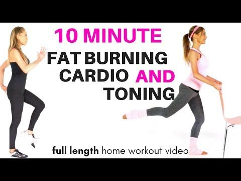 GET IN SHAPE AT HOME - FAT BURNING HOME CARDIO EXERCISE VIDEO - WITH