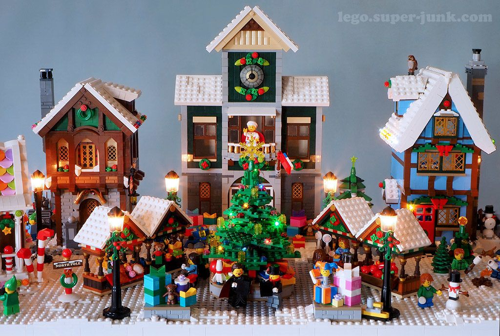 fatica cercare Vai al circuito  4 years of Lego Winter Village Displays – Melissa's Lego | Lego winter, Lego  winter village, Lego christmas village