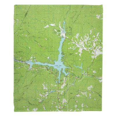 Breakwater Bay Lake Lure NC 1982 Topo Map Throw
