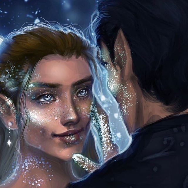 "You Could Rattle The Stars ✨ on Instagram: ""Feyre and Rhys by @starscrapers"