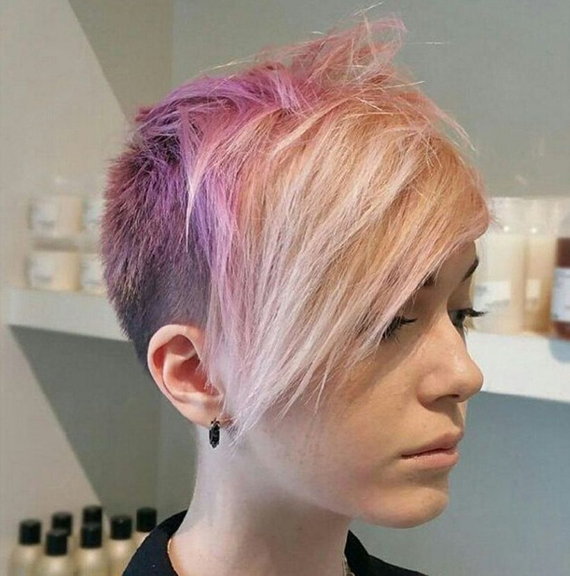 100 Funky Short Pixie Haircut With Long Bangs Ideas Short Pixie