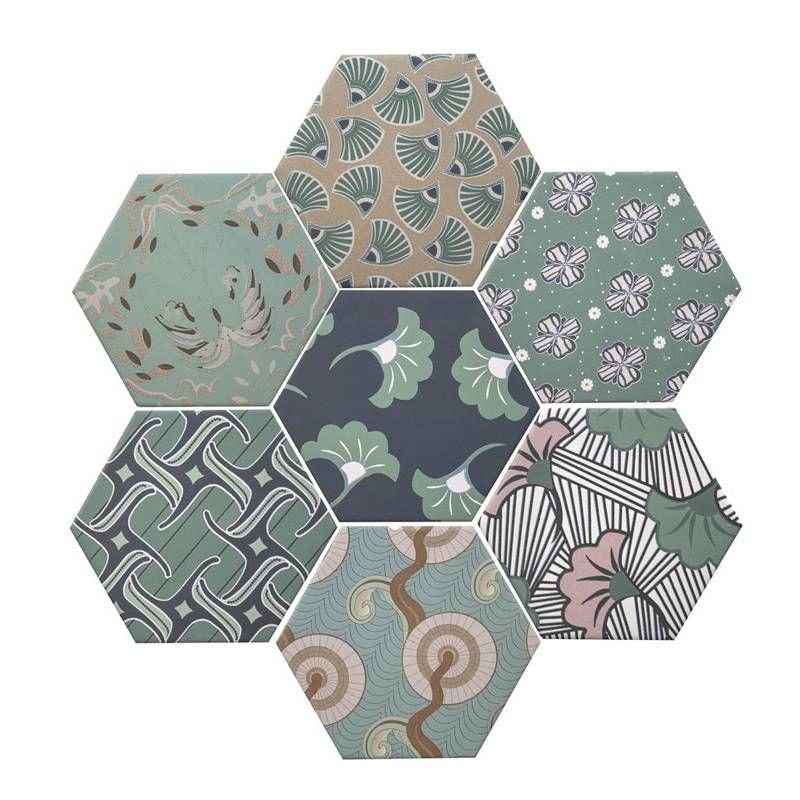 carrelage hexagonal la tomette gr s c rame good vibes. Black Bedroom Furniture Sets. Home Design Ideas