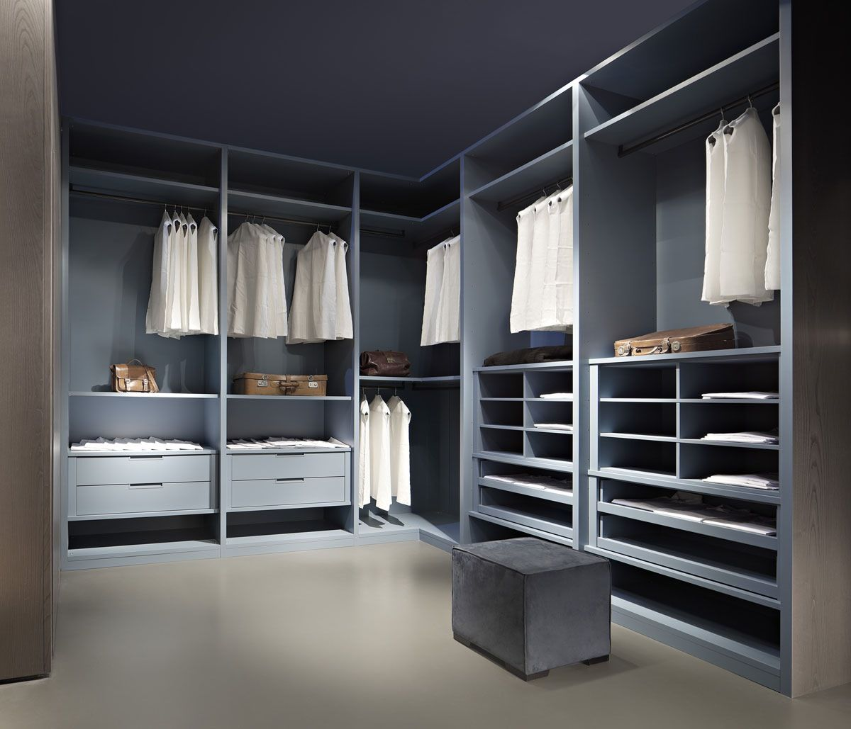 Modern And Fancy Bedroom Wardrobes And Closets : Admirable Grey ...