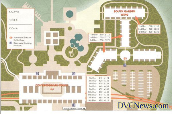 Contemporary Resort map   Walt Disney World Resorts   Pinterest ...