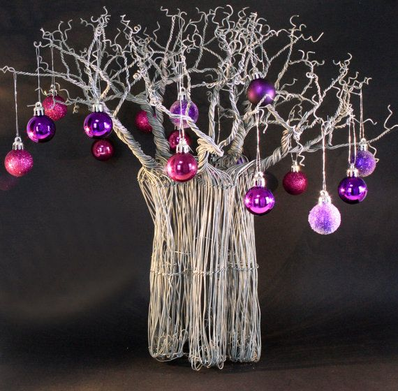 This baobab makes a lovely unusual christmas table setting for African christmas decoration
