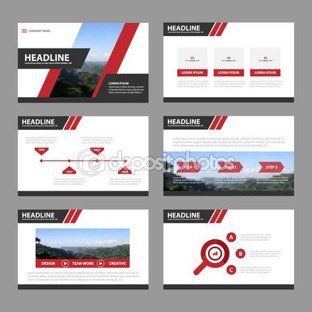 Télécharger - Modèles de présentation rouge noir infographie - marketing brochure