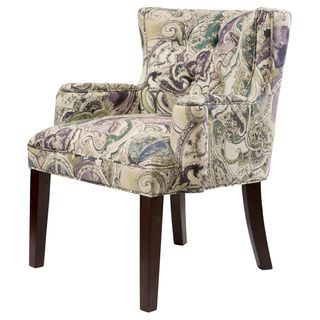 Margo Paisley Tufted Back Accent Chair - Overstock™ Shopping - Great Deals on Living Room Chairs