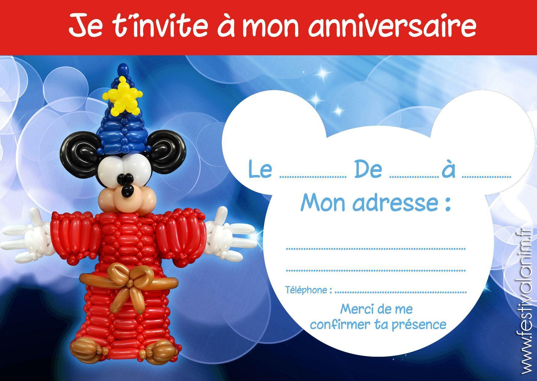 Carte D Invitation Anniversaire Gratuite A Imprimer Pour Garcon