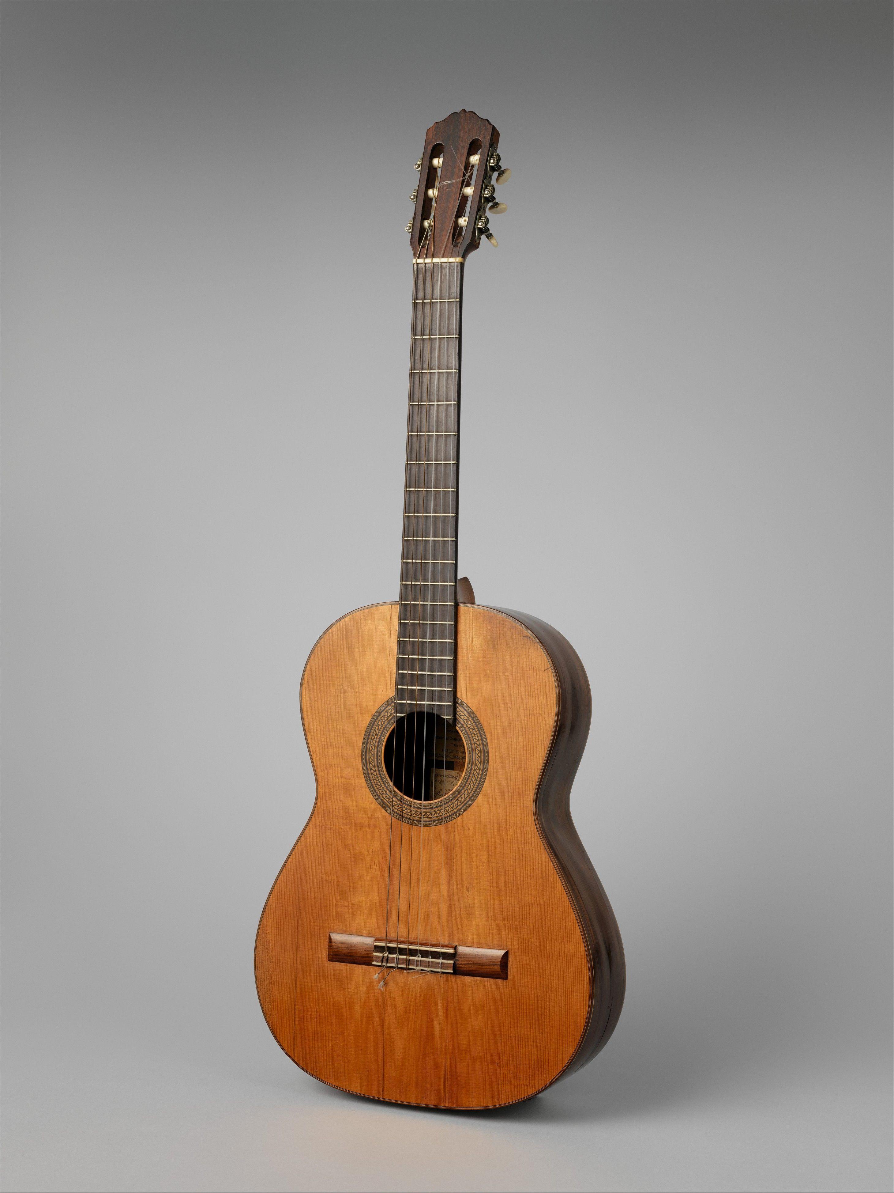 Guitar; Manuel Ramírez; 1912; Spanish; Spruce, rosewood