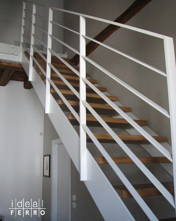 Balaustra Bianca In Ferro Verniciato Interiors Pinterest Stair