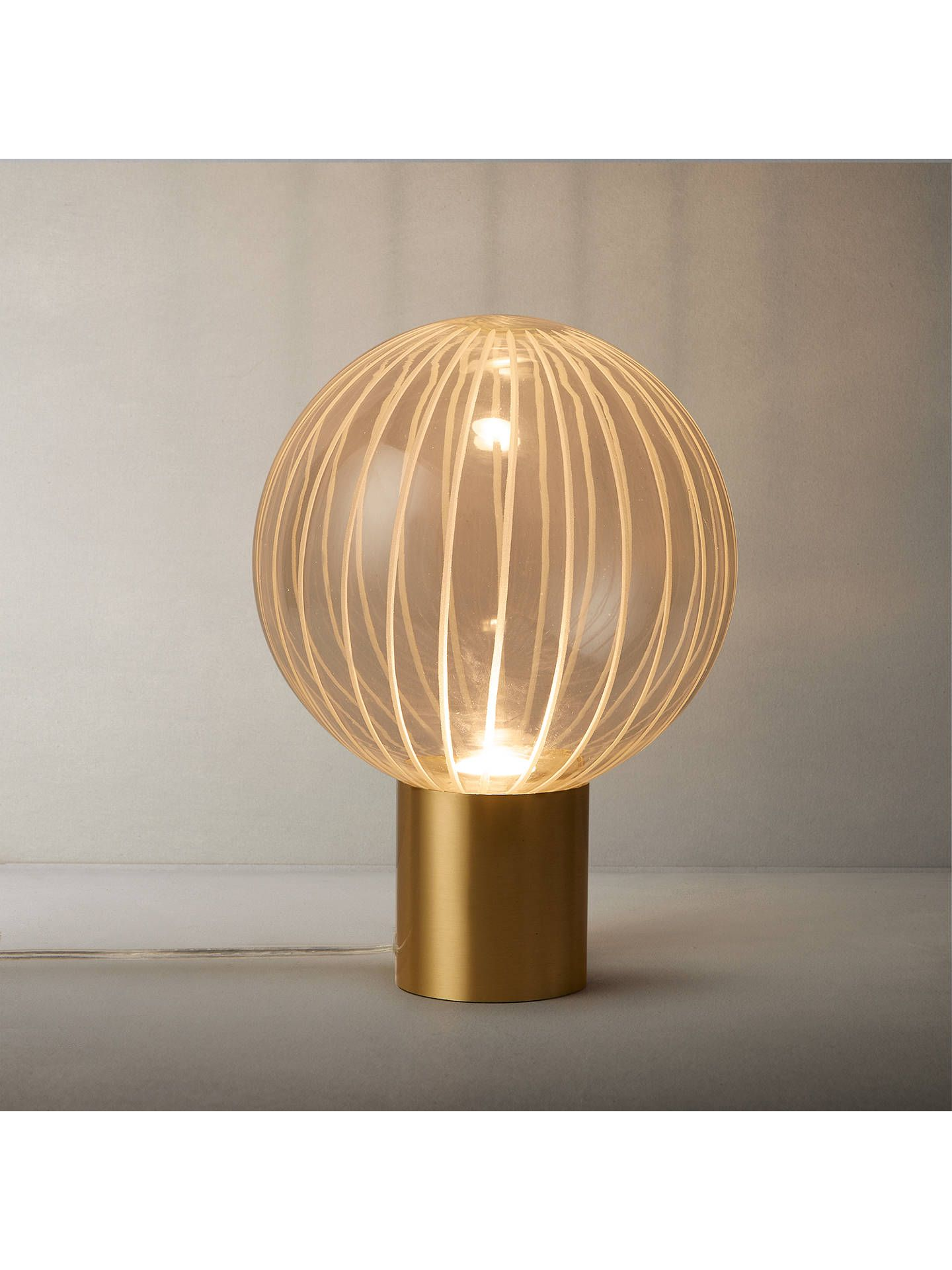 3672d3ec36a6 BuyJohn Lewis & Partners Marlo LED Table Lamp, Gold Online at johnlewis.com