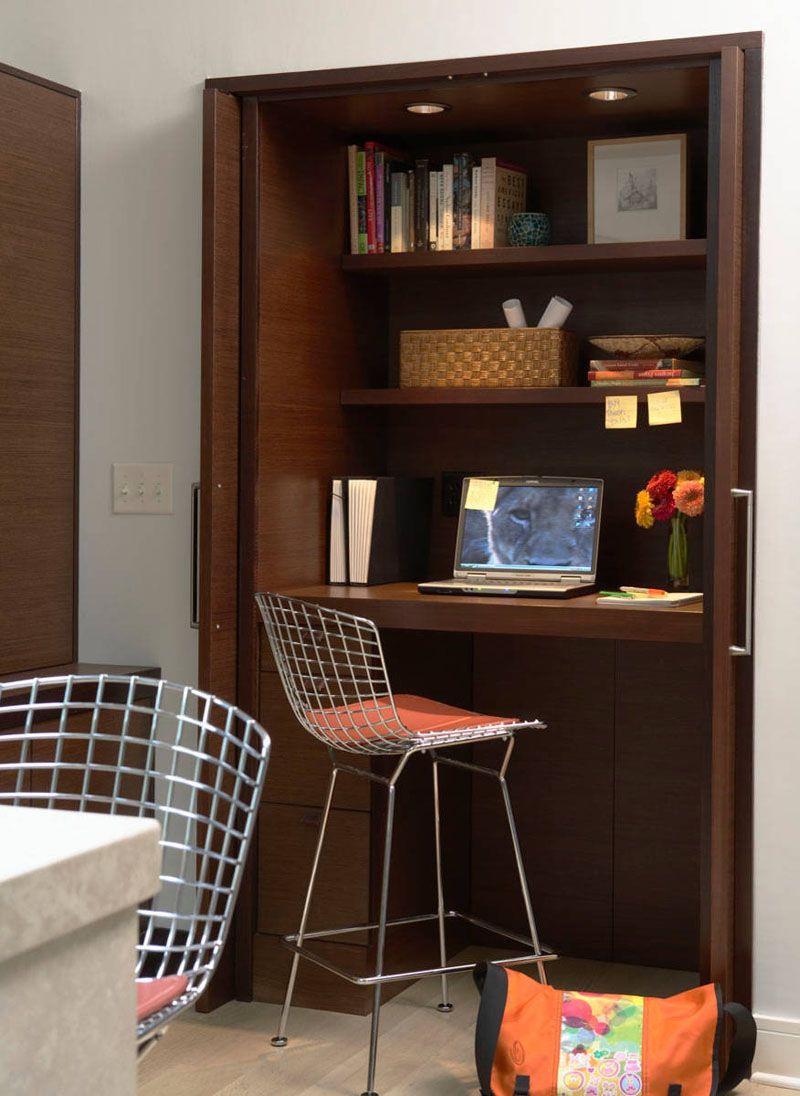 creating a small home office. Small Apartment Design Idea - Create A Home Office In Closet Creating C