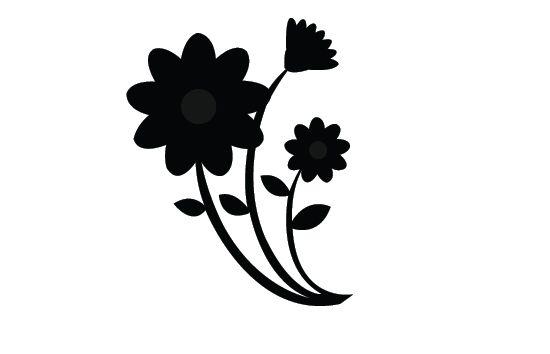 flower silhouette vector flower silhouette and vector graphics rh pinterest co uk lotus flower silhouette vector flower silhouette vector free download