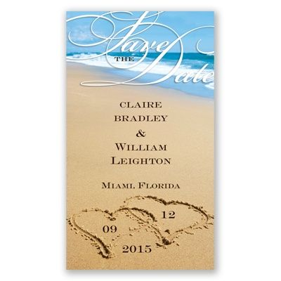 1000 images about Wedding Save the date – Beach Wedding Save the Date Magnets